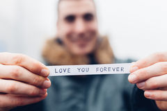 Love you forever message Royalty Free Stock Images