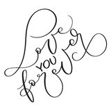 Love you forever text on white background. Hand drawn vintage Calligraphy lettering Vector illustration EPS10 Stock Images