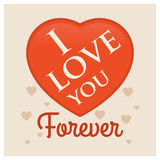 Love you forever. Royalty Free Stock Photo