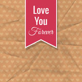 Love You Forever Stock Images