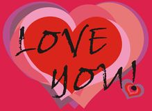 Love you greeting card Stock Photography