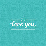 Love you greeting card Royalty Free Stock Photos