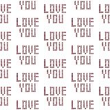 Love you hand drawn seamless pattern with spots minimalism. Style vector illustration