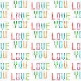 Love you hand drawn seamless pattern with spots minimalism. Rainbow colors royalty free illustration