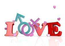 Love in you heart. A 3D rendered artwork with white background vector illustration