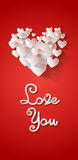 Love You Heart Shape Valentine Day Greeting Card Stock Photography