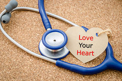 Love you heart word in paper tag. Stock Photography
