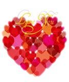 Love you hearts Stock Photos