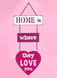 Love you home vector illustration
