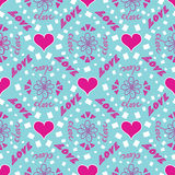 Love you. 'Love' lettering seamless pattern with hearts Royalty Free Stock Photography