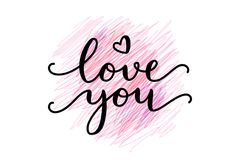 Love you lettering Stock Photo