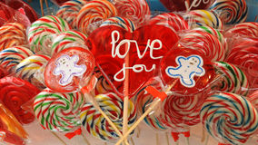 Love you lollipop Royalty Free Stock Images
