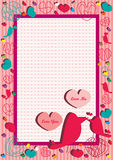 Love You Love Me Frame_eps Royalty Free Stock Photography