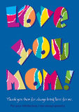 Love you Mom. Background vector design card Royalty Free Stock Photography
