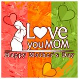 Love you Mom. International Women`s Day. Happy Mother`s Day. Vector Illustration. EPS file available. see more images related stock illustration
