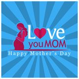 Love you Mom. International Women`s Day. Happy Mother`s Day. Vector Illustration. EPS file available stock illustration