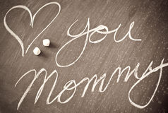 Love You Mommy. Abstract Image Stock Photography