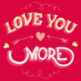 Love you more greeting card Royalty Free Stock Photography