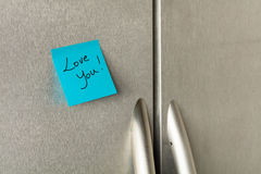 Love you note Stock Photos
