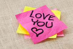Love you - office romance Stock Photos