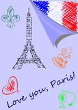 Love you paris Stock Photography