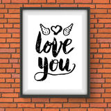 Love You romantic card or poster design Stock Photo