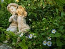 Love you. A romantic sculpture in garden thailand Stock Photo