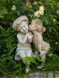 Love you. A romantic sculpture in garden thailand Stock Photography