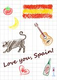 Love you spain Royalty Free Stock Image