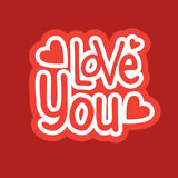 Love You Sticker Social Media Network Message Badges Design Royalty Free Stock Image