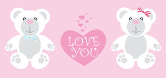Love you Teddy, Valentine's day Royalty Free Stock Image