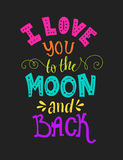 Love you to the moon Stock Photos
