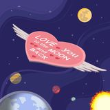 Love you to the moon Stock Image