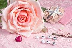 Love You - Valentine stock images