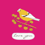 Love You Valentines Card Royalty Free Stock Photo