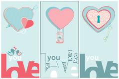 Love You Valentines message Royalty Free Stock Images
