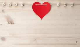 Love You on wood Royalty Free Stock Image