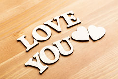 Love You wooden letters Royalty Free Stock Photos