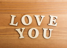Love You wooden text Royalty Free Stock Photography