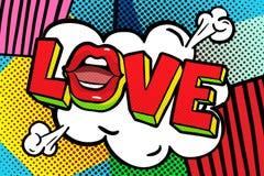 Love you word bubble. Stock Photos