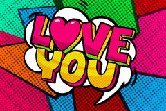 Love you word bubble. Stock Images