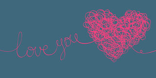 Love you words Stock Photo