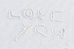 Love You Written In The White Sand Stock Photography