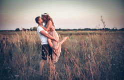 Love between a young couple Stock Image