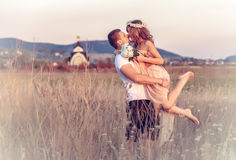 Love between a young couple Royalty Free Stock Images