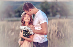 Love between a young couple Royalty Free Stock Photography
