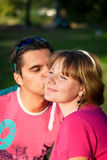 In love young couple stock photography