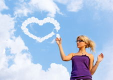 In love young woman Royalty Free Stock Photos