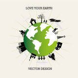 Love your earth Royalty Free Stock Images