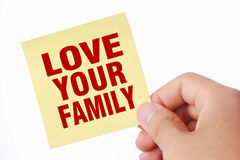 Love Your Family Stock Image